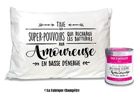 """Taie d'oreiller """"Amoureuse"""""""