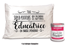 """Taie d'oreiller """"éducatrice"""""""