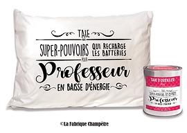 """Taie d'oreiller """"professeur"""""""