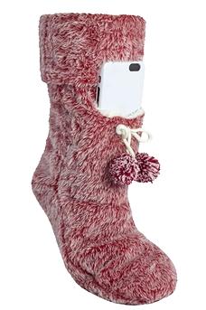 Pantoufle avec pochette pour cellulaire