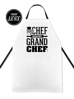 "Tablier junior ""Sous chef, bientôt grand chef"""