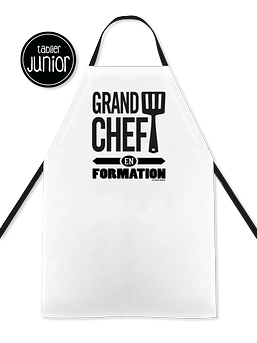 "Tablier junior ""Grand chef en formation"""