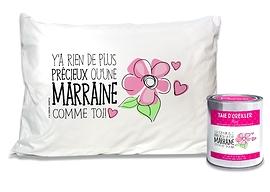 """Taie d'oreiller """"Marraine/Précieux"""""""