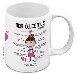Tasse éducatrice rose