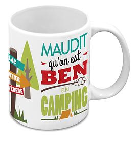 """Tasse """"On est ben en camping"""""""