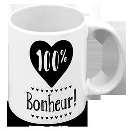 """Tasse """"100% Bonheur"""""""