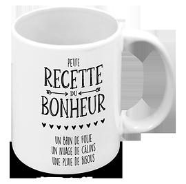 "Tasse ""Recette du bonheur"""