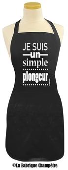 Tablier '' Je suis un simple plongeur ''