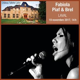 Fabiola Piaf & Brel - Laval, Qc - «Dimanche nostalgie»  19 novembre 2017, 14h.  (Prix 35$ taxes incluses)