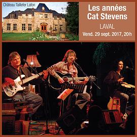 29 septembre 2017, 20 h / Laval / Les Années Cat Stevens (Prix: 35 $ taxes incluses)