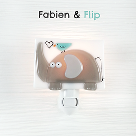 Veilleuse - Éléphant - Fabien et Flip