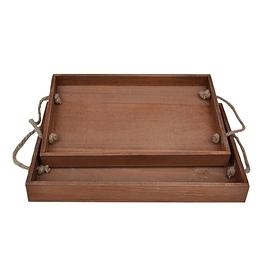 Cabaret en bois brun - Large