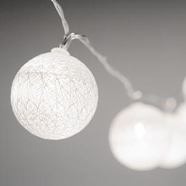 Guirlande lumineuse avec globes blanc - 10 DELS