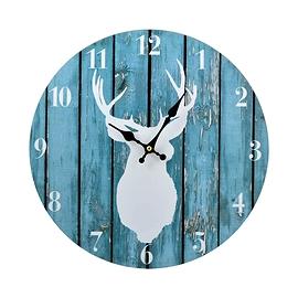 Horloge avec cerf - Bleu