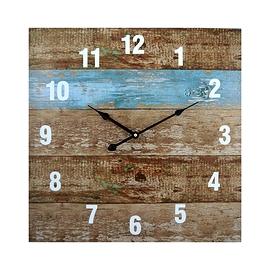 Horloge - imitation de planches en bois