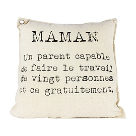 "Coussin ""Maman, un parent capable...''"