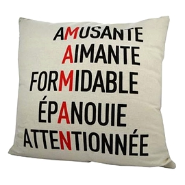 Coussin avec anagramme - Maman/ mother