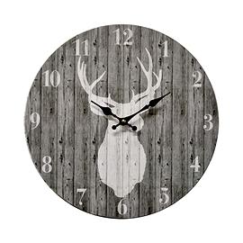 Horloge Gris - Cerf