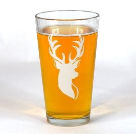 Verre pub - Tête de cerf - En promotion