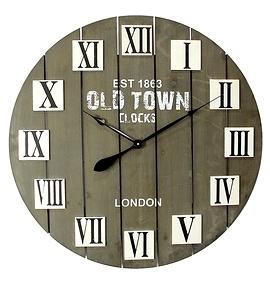Horloge en bois - ''Old town''