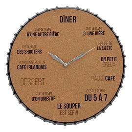 Horloge en liège - bar