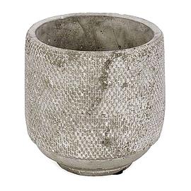 Pot à fleur gris - rond