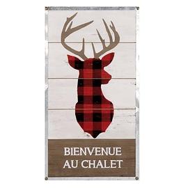 Panneau mural chalet - Tête de cerf
