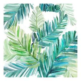 Canevas - Feuillage avec nuances de vert/turquoise
