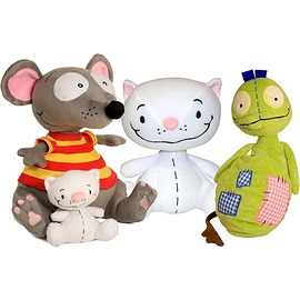 Package including Toopy, Binoo and Patchy Patch plush