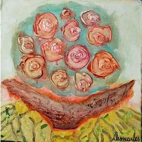 Nuage de roses 10x10