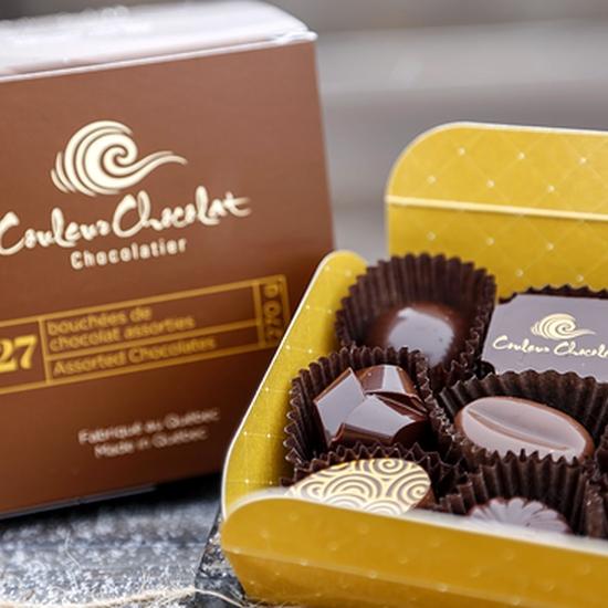 Boîtes bouchées de chocolat