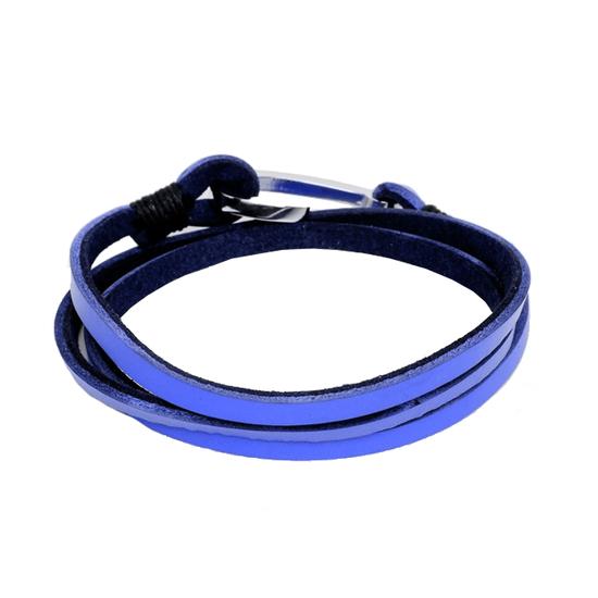 Bracelet en cuir avec crochet