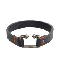 Bracelet en cuir coutures colorées