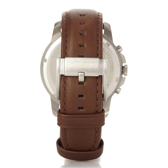Montre large avec bracelet en cuir