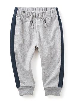 TEA COLLECTION - Pantalon gris souple avec bande marine