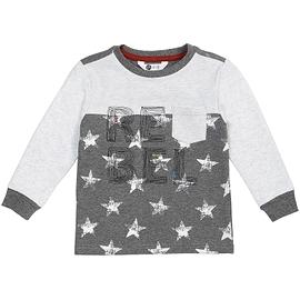 PETIT LEM - Chandail gris 'Rebel with stars'