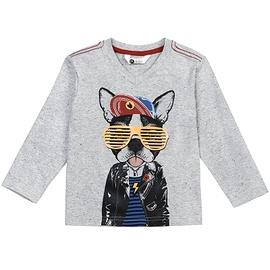 PETIT LEM - t-shirt manche longue chien à lunette
