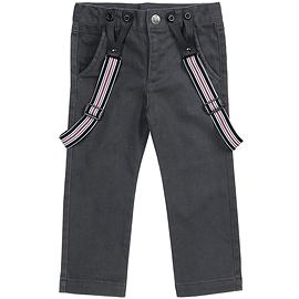 PETIT LEM - Pantalon noir avec bretelles
