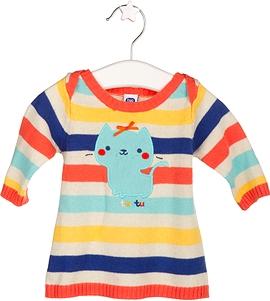 TUC TUC - Robe en tricot '' friends and rain ''
