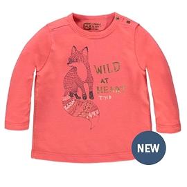 TUMBLE'N DRY- T-shirt orange 'Zwaan' avec renard