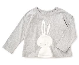 TEA COLLECTION - T-shirt gris à motif de lapin 'Bani'