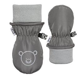 KOMBI-Mitaines The Baby Animal à manchette repliable pour bébés-GRIS
