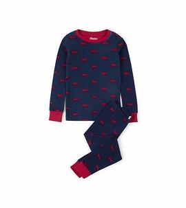 HATLEY - Pyjama 2 pièces ''Labradors rouges''