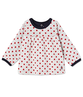 PETIT BATEAU- T-shirt manches longues à pois