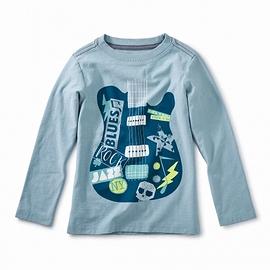 TEA COLLECTION - T-Shirt manches longues imprimé guitare