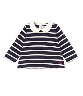 PETIT BATEAU- T-shirt manches longues rayé