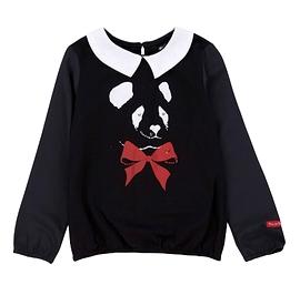 DEUX PAR DEUX- T-shirt en jersey avec panda