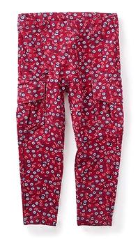 TEA COLLECTION - Pantalon cargo souple rose framboise 'Pin Pin'
