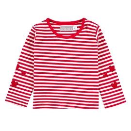 BOBOLI- T-shirt manches longues rayé rouge