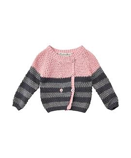 MINYMO- Cardigan rose et gris